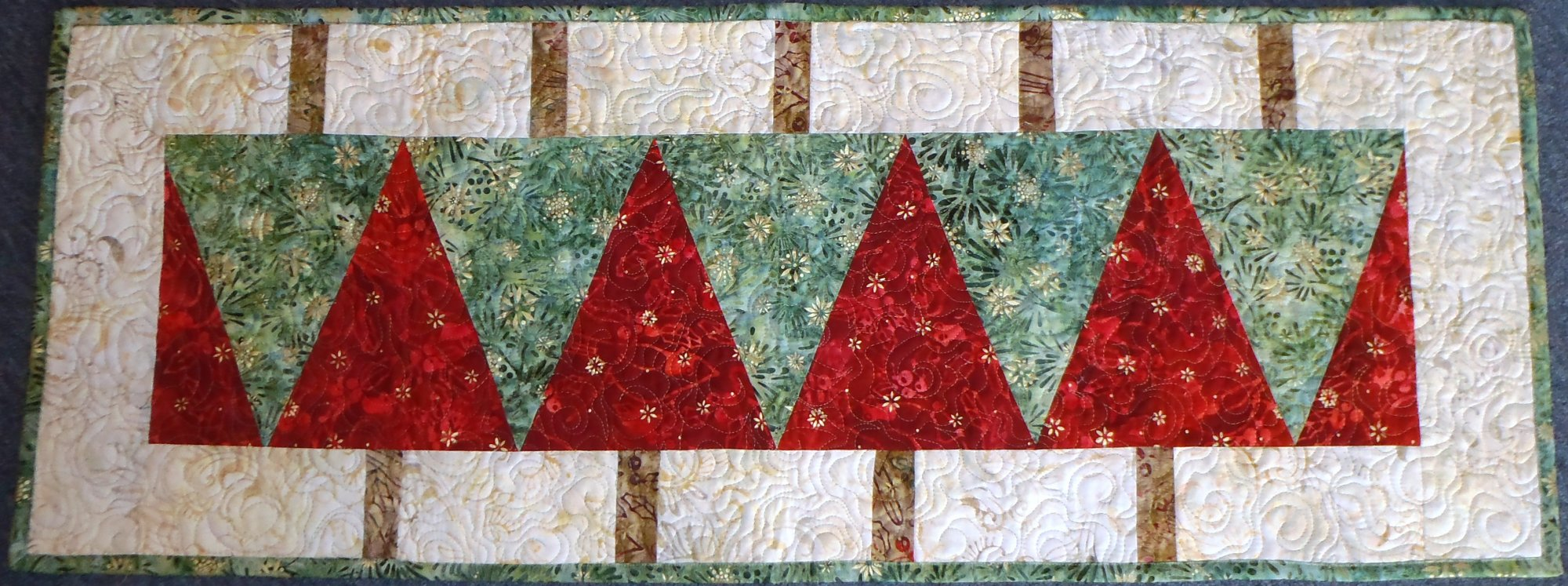 Double Tree Table Runner Large
