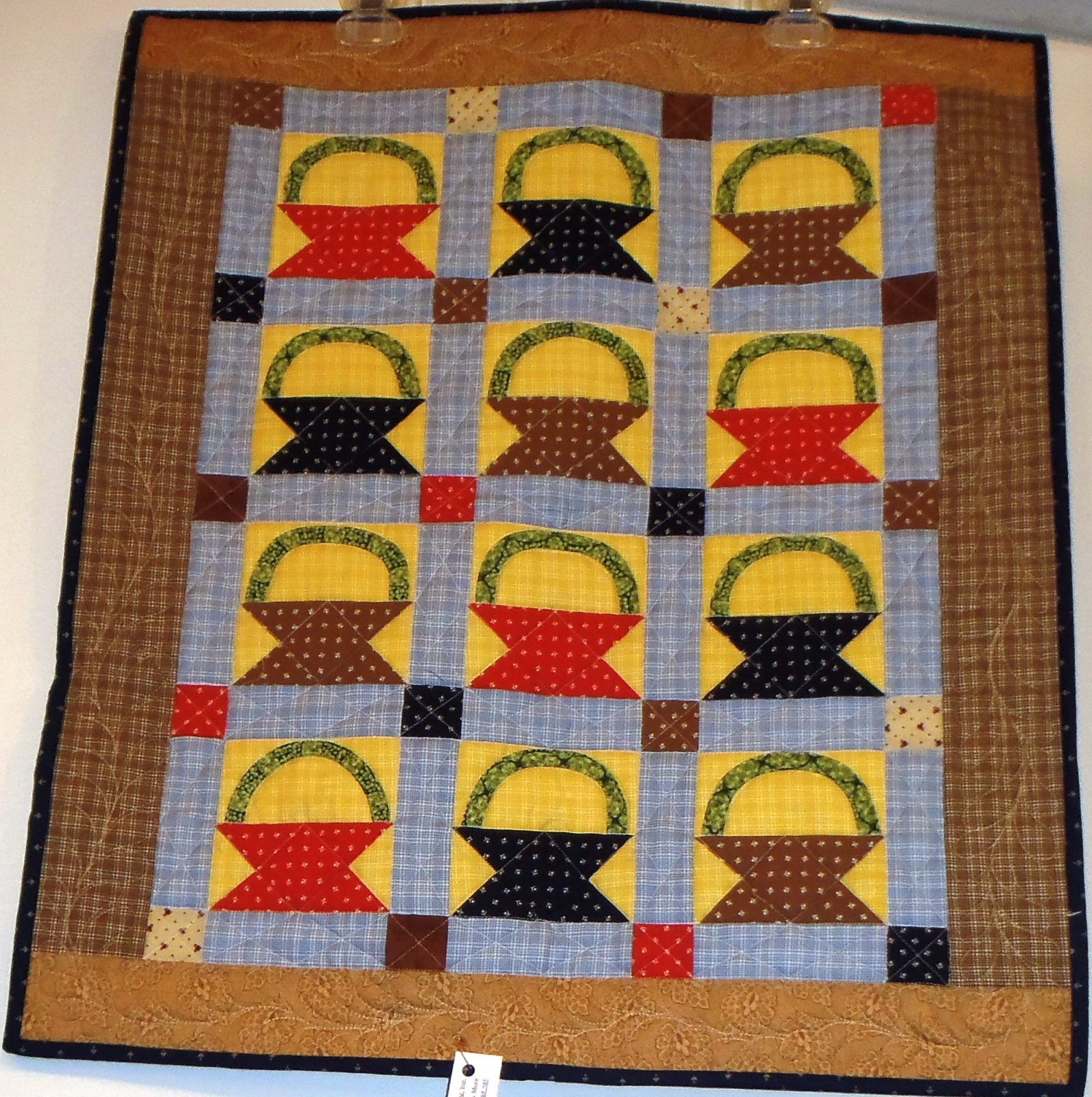 Civil War Baskets Mini Quilt