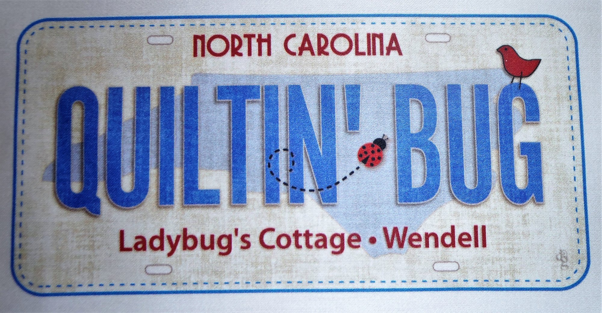 Fabric License Plate Quiltin'