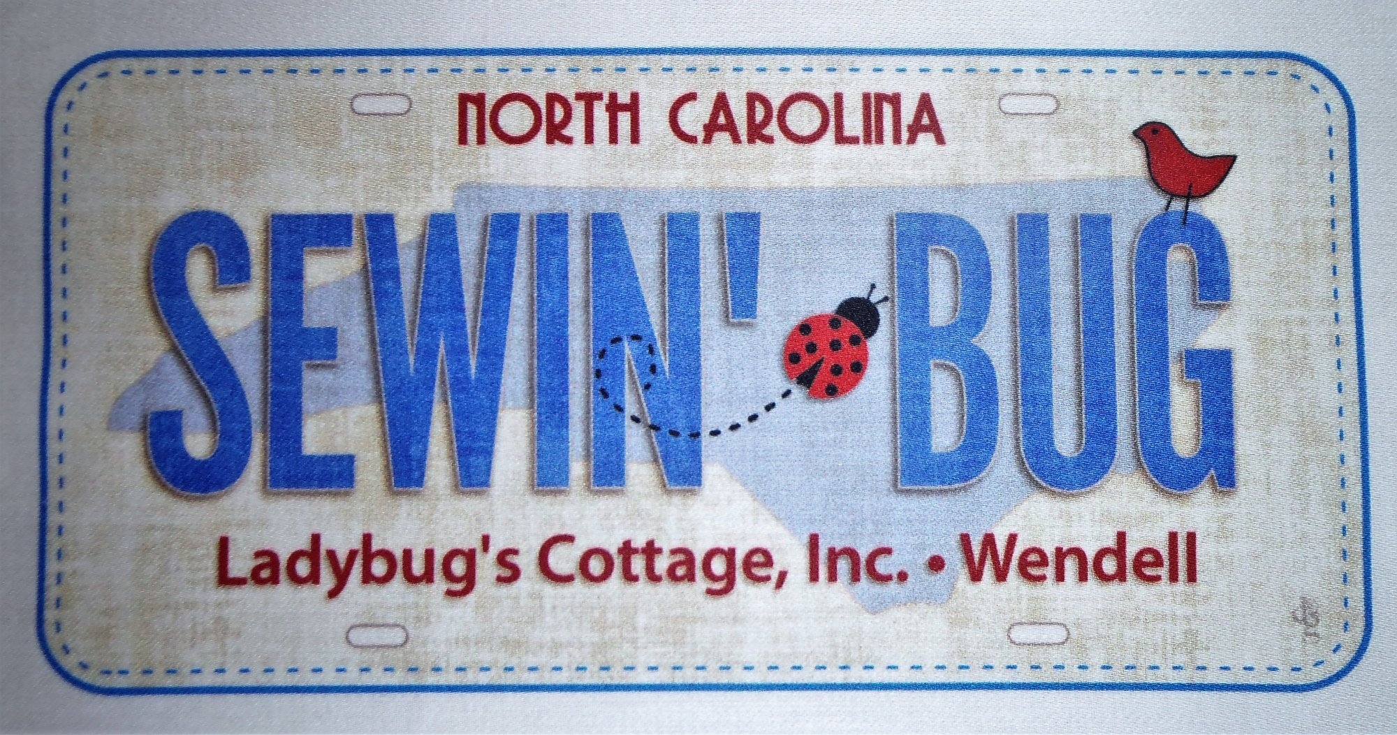 Fabric License Plate Sewin'