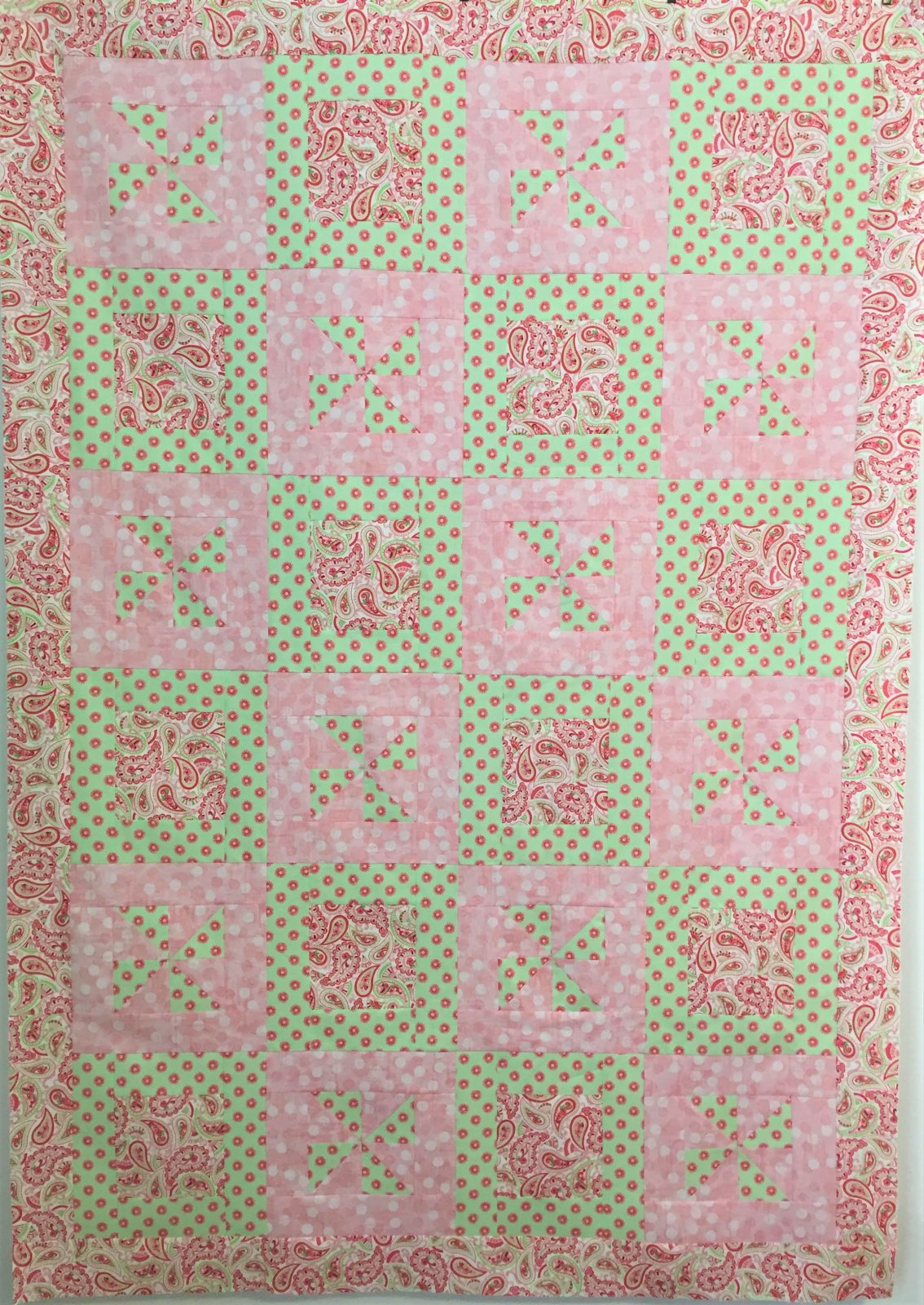 Pinwheel Party Quilt Top
