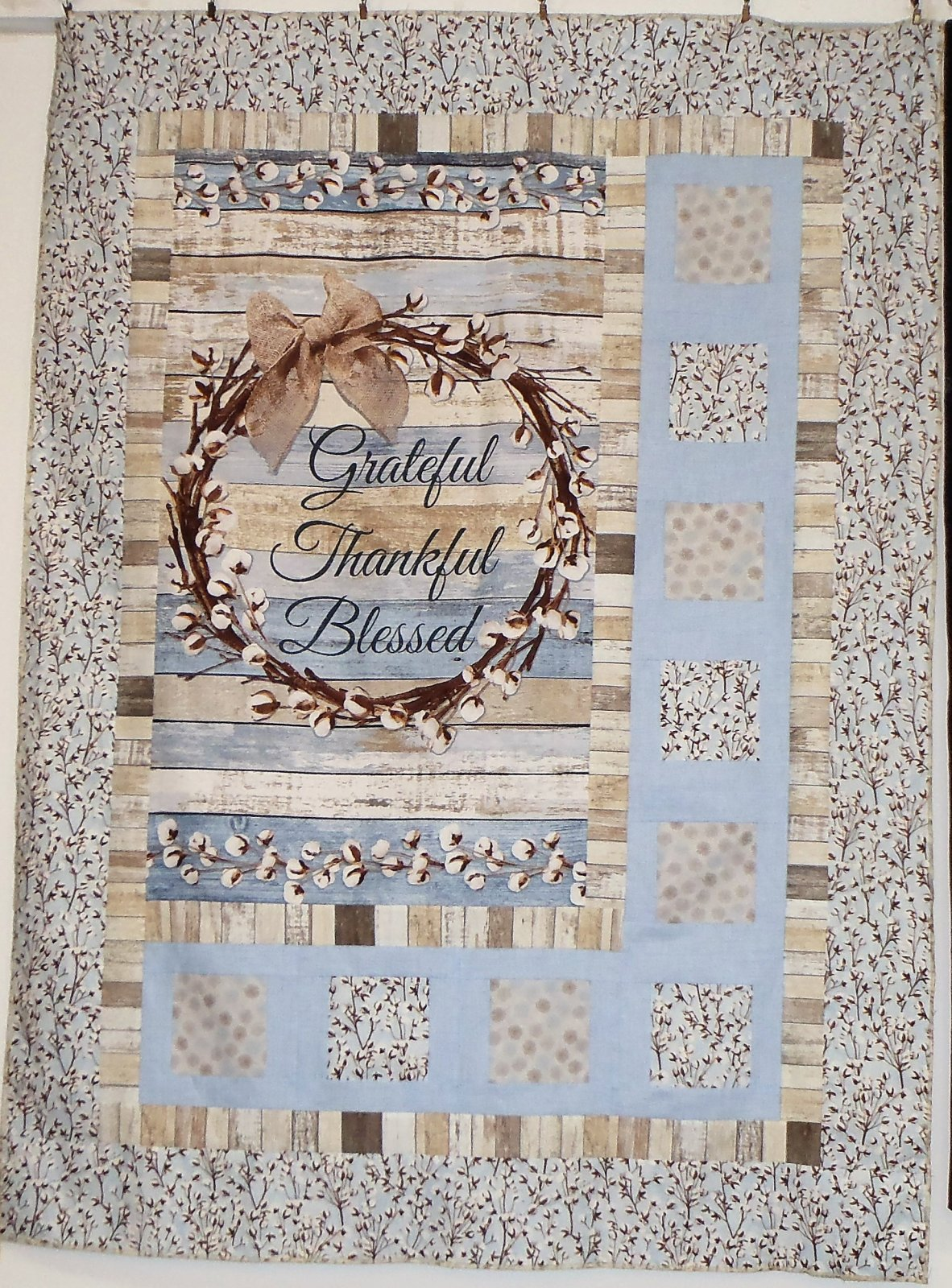 Cotton Blossoms Sidelights Quilt Top
