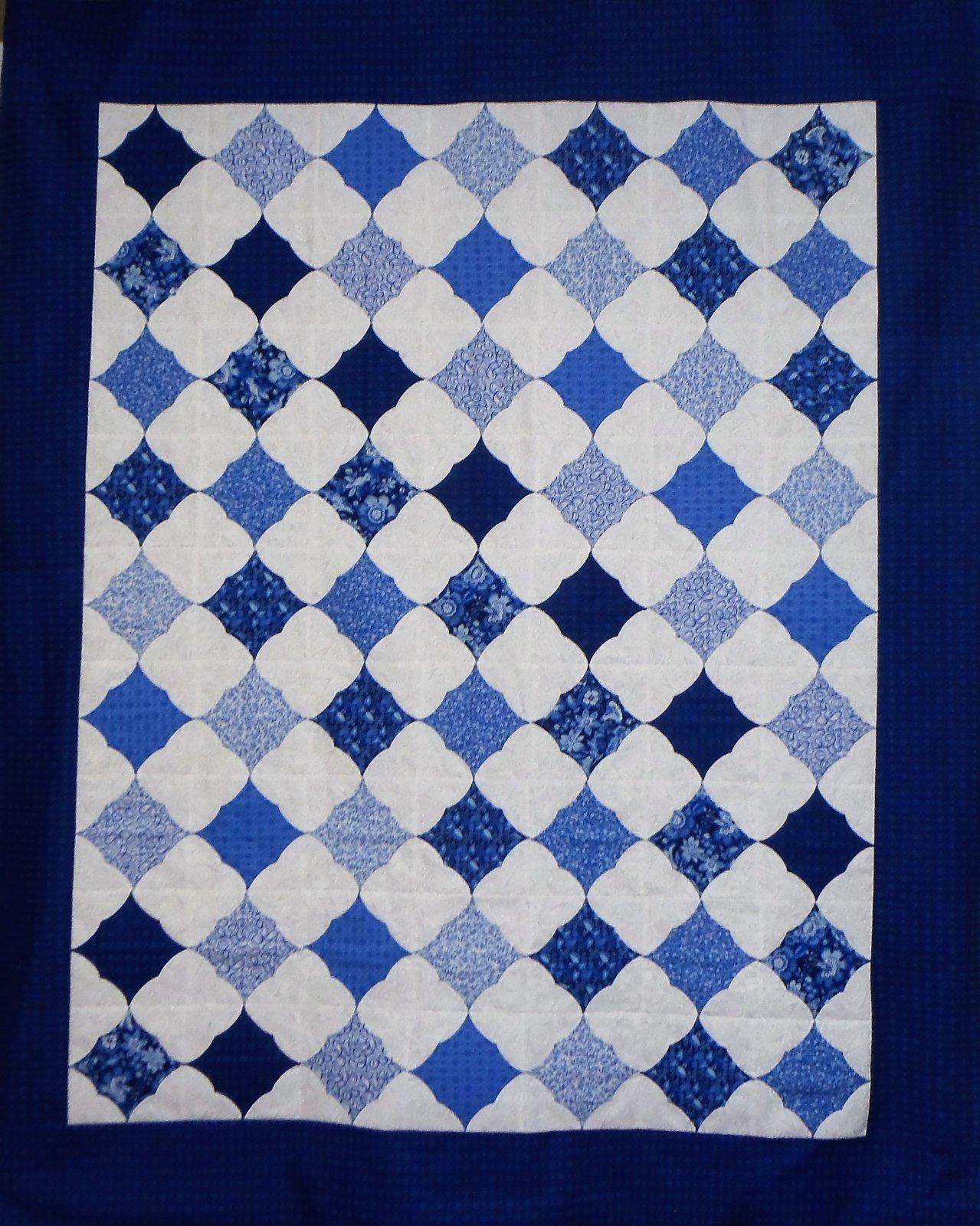 Snow Puzzle Quilt Top