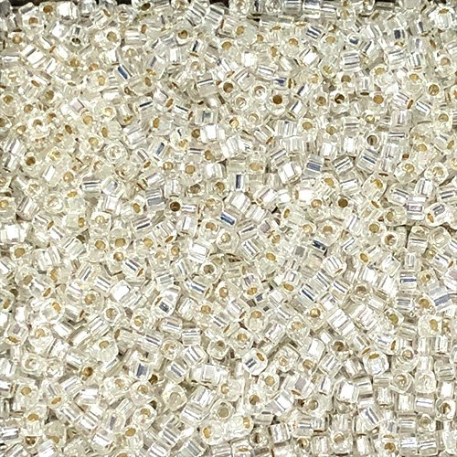SB18-001 1.8mm Silverlined Crystal Square Beads
