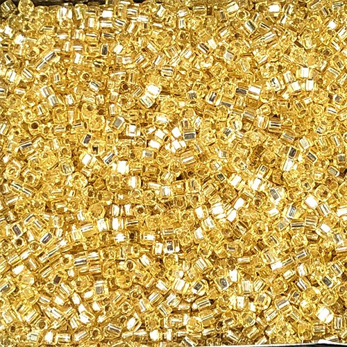 SB18-003 1.8mm Silverlined Gold Square Beads