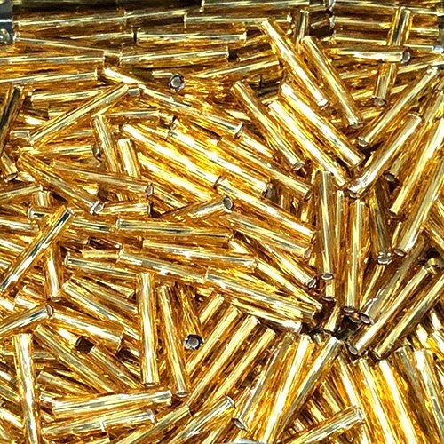 BG004.12T  6mm Twist Bugles S/L Dark Gold