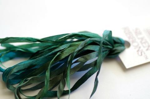 ThreadGatherer Silk Ribbon - G025 Forest of Greens