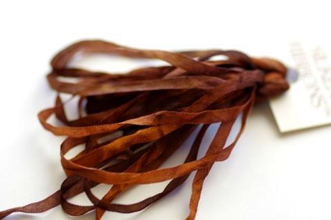 ThreadGatherer Silk Ribbon - Chocolate Caramel 076