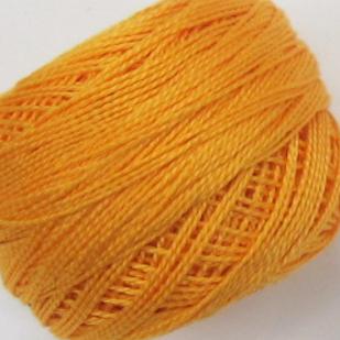 DMC Perle Cotton Balls Size 8 - 0742 Light Tangerine
