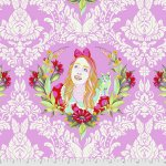 Alice from Tula Pink's new fabric collection Curiouser and Curiouser