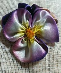 Pansy made form silk ribbon