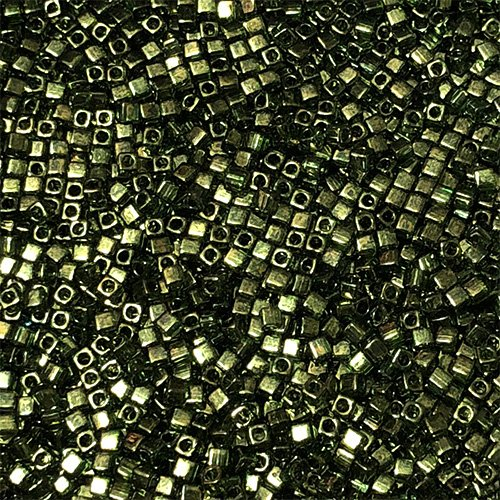 SB18-306 1.8mm Tourmaline Green Lustre Square Beads
