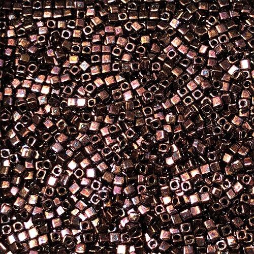 SB18-457C 1.8mm Redish Copper Square Beads