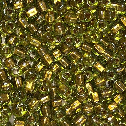 6-726  Shimmering Peridot Colorlined Metallic Mustard