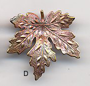 Maple Leaf Button Large BE1332D