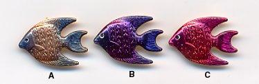 Sea Shore Button BE617 - Fish