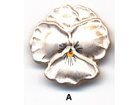Flower Button BE671 - Pansy Blossom
