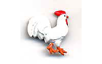 Rooster Button - BE76