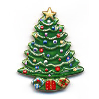Christmas Tree Button - BE905
