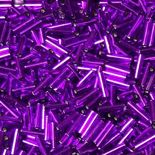 BG027.6   6mm Bugle Silverlined Purple