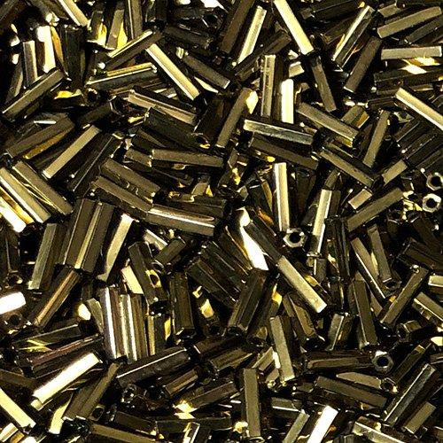 BG457.6  6mm Bugle Metalic DK Bronze