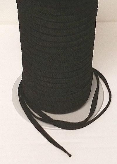 Elastic Black 1/4-inch