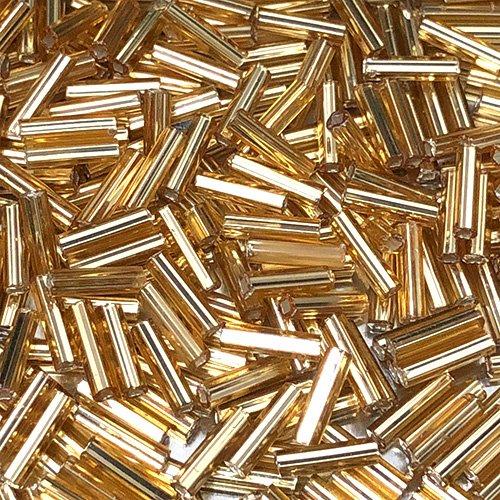 BG003.6  6mm Bugles S/L Straw Gold