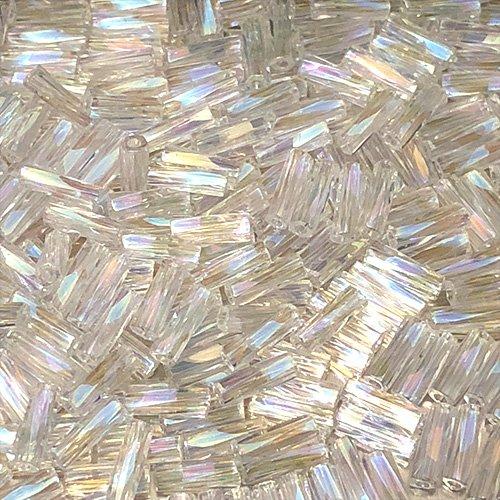 BG250.6T  6mm Twisted Bugles Transparent Crystal AB