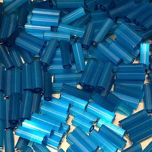 BGF143B.6  6mm Bugle Matte Transp Silky Blue