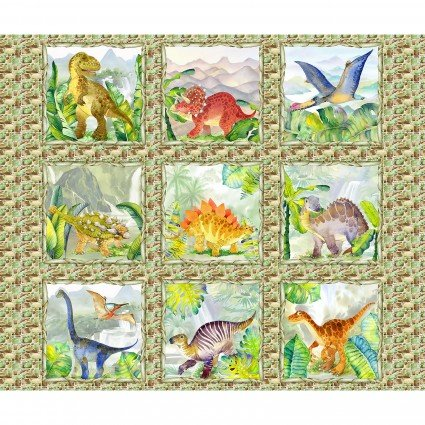Dinosaur Friends Panel - DIF1DIN-1