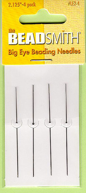 The Beadsmith Large Eye Beading Needles