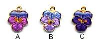 Flower Charm PC963 - Pansy Blossom