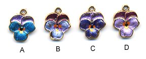 Flower Charm PC968 - Pansy Blossom