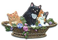 Cats in Basket BE-586