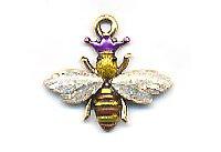Bee Charm - Queen -  C1433