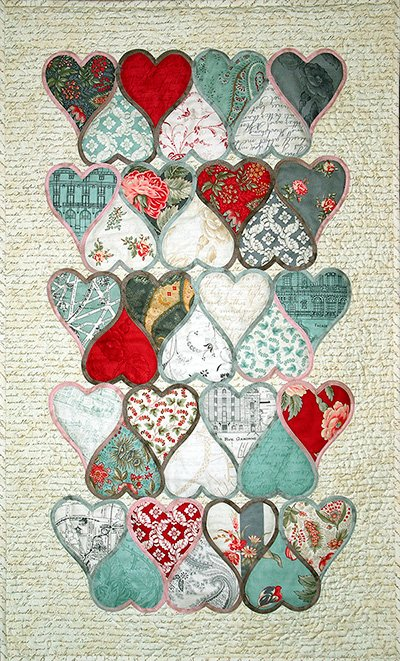 Stained Glass Hearts Pattern