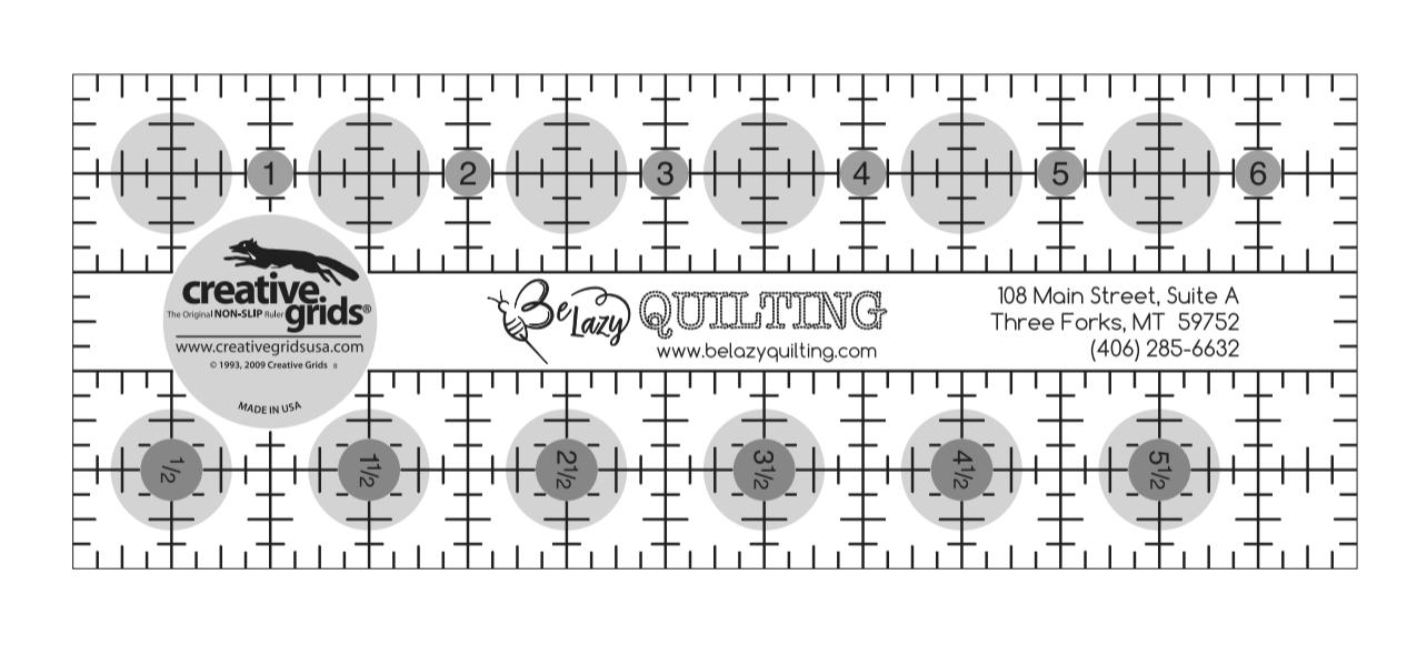 2 1/2 x 6 1/2   Custom Creative Grid Ruler