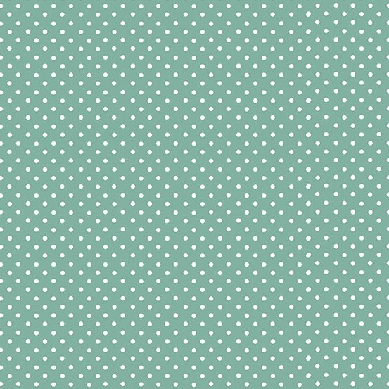 Teal with white Dot