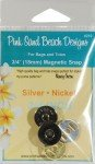3/4in Magnetic Snap SilverNick 3/4 inch (18mm) Magnetic Snap - Silver Nickel