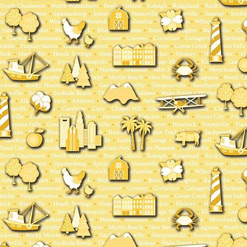 Carolinas Cities - Yellow