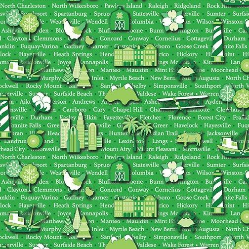 Carolinas Cities - Green