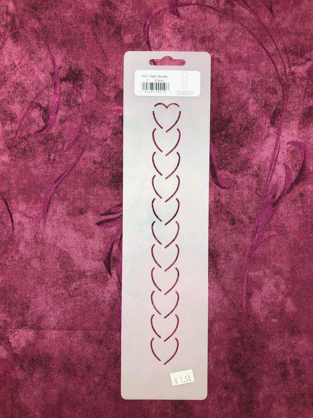 219 Heart Border 1 Inch Stencil