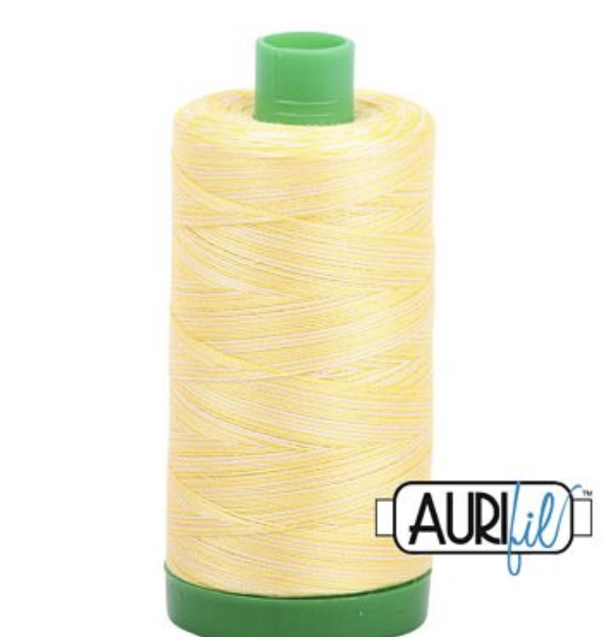 Aurifil #3910 Lemon Ice Cotton Thread V 40wt