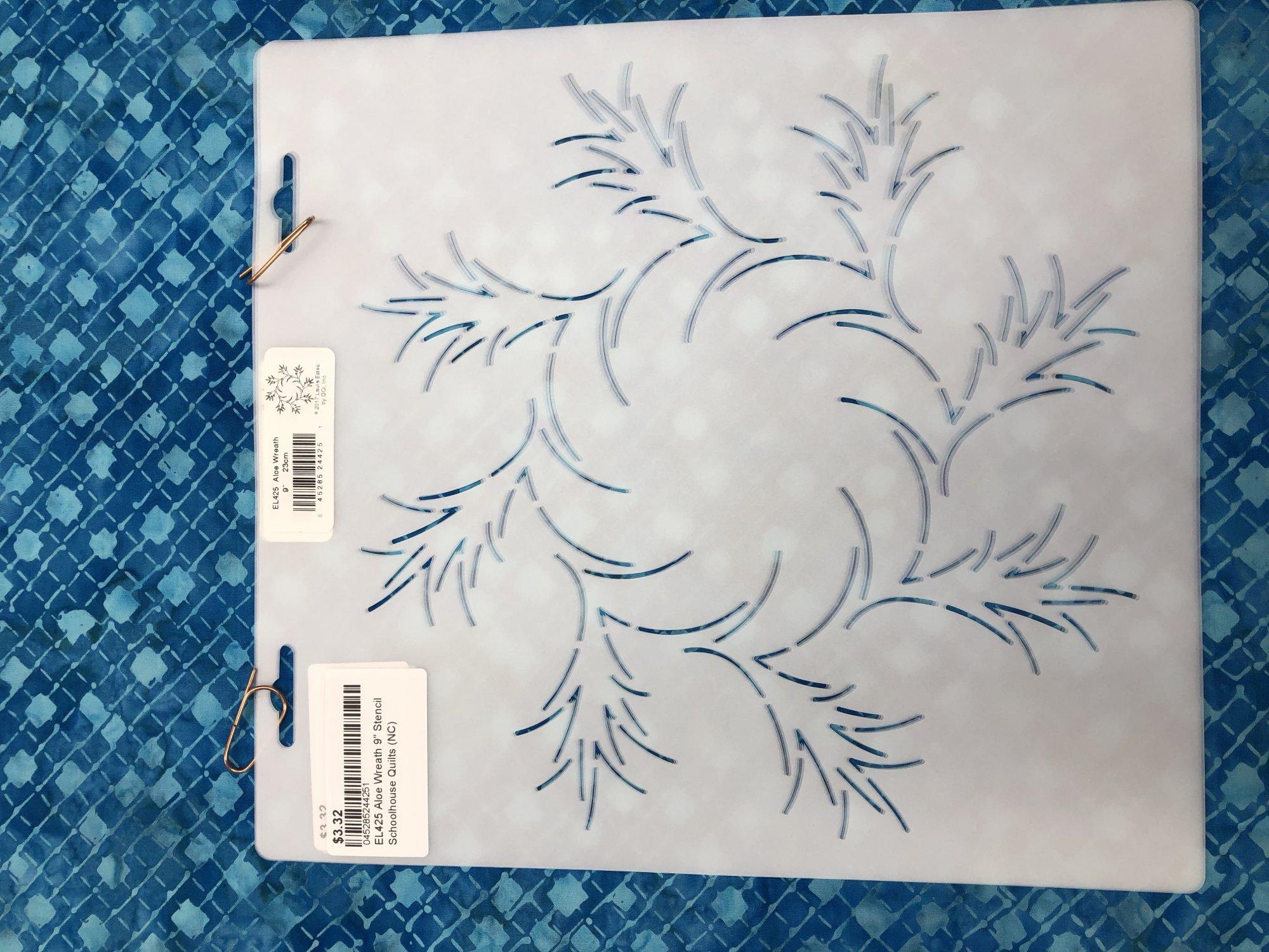 EL425 Aloe Wreath 9 Stencil