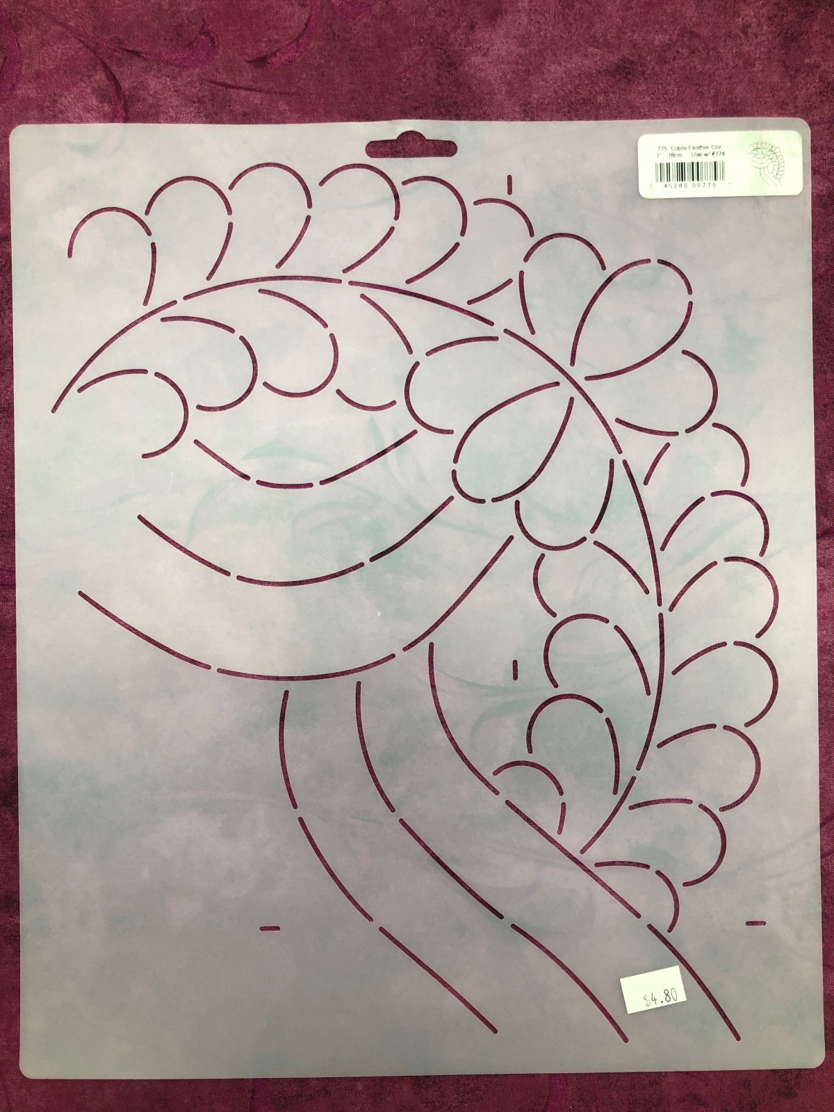 775 Cable Feather Cnr. 7 Inch Stencil