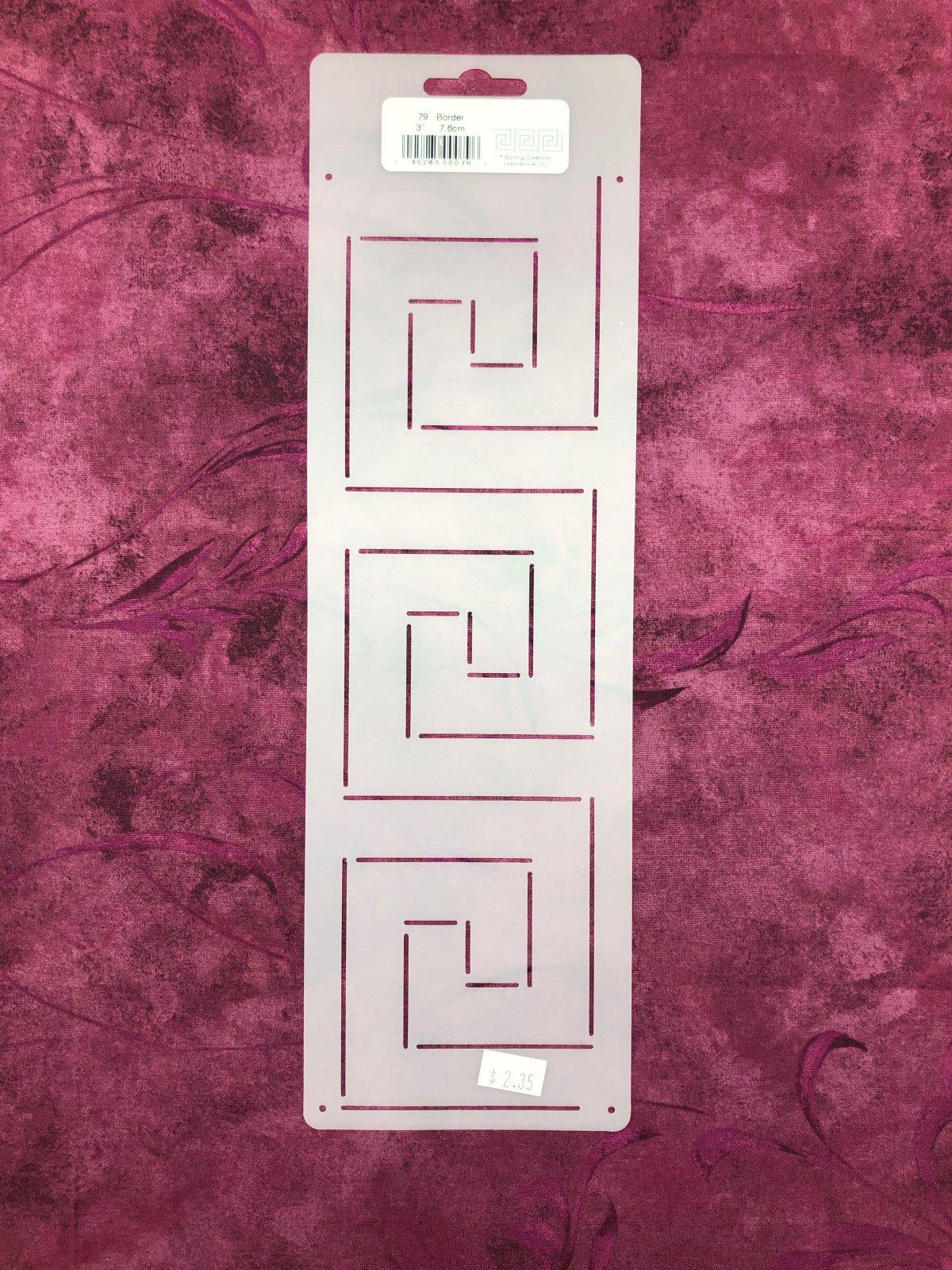 79 Square Border 3 Inch Stencil