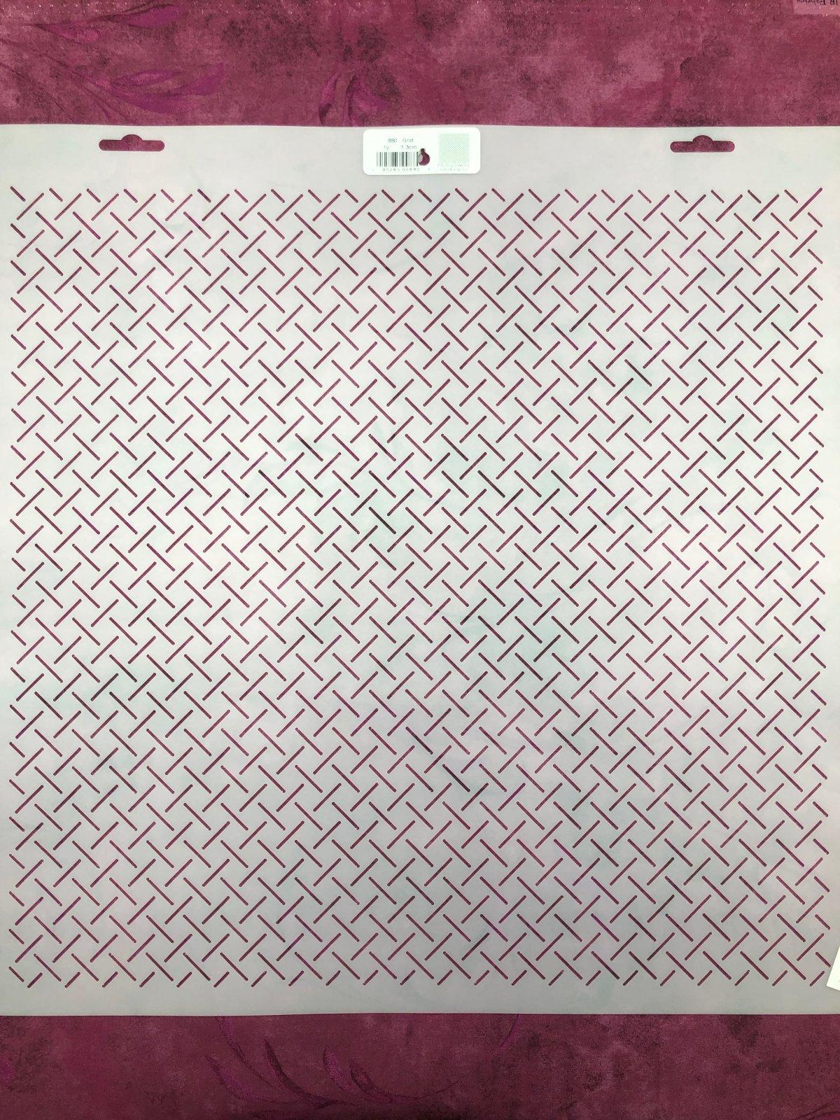 880 Grid 1/2 Inch Stencil