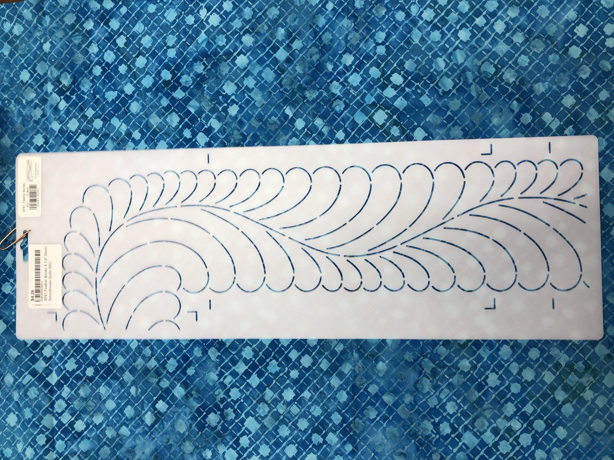 SF61 Feather Border 4 1/2 Stencil