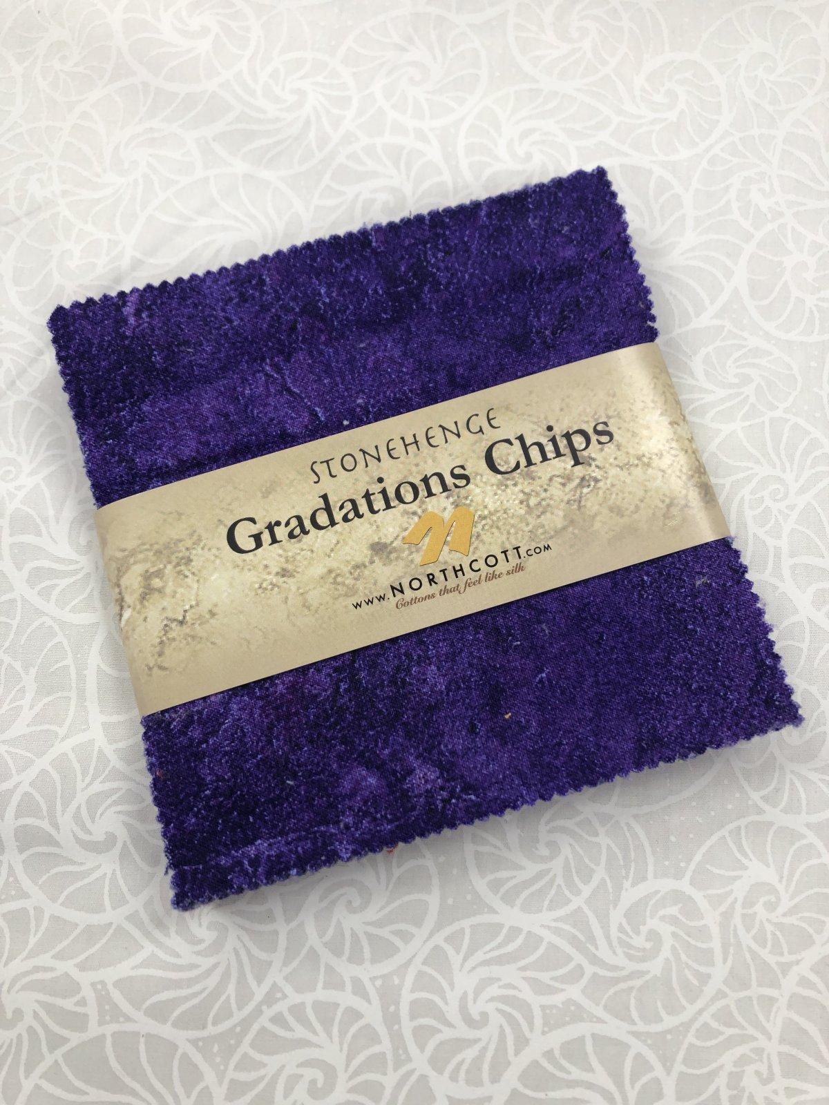 Stonehenge Amethyst Chips 42 Pcs 5 Squares