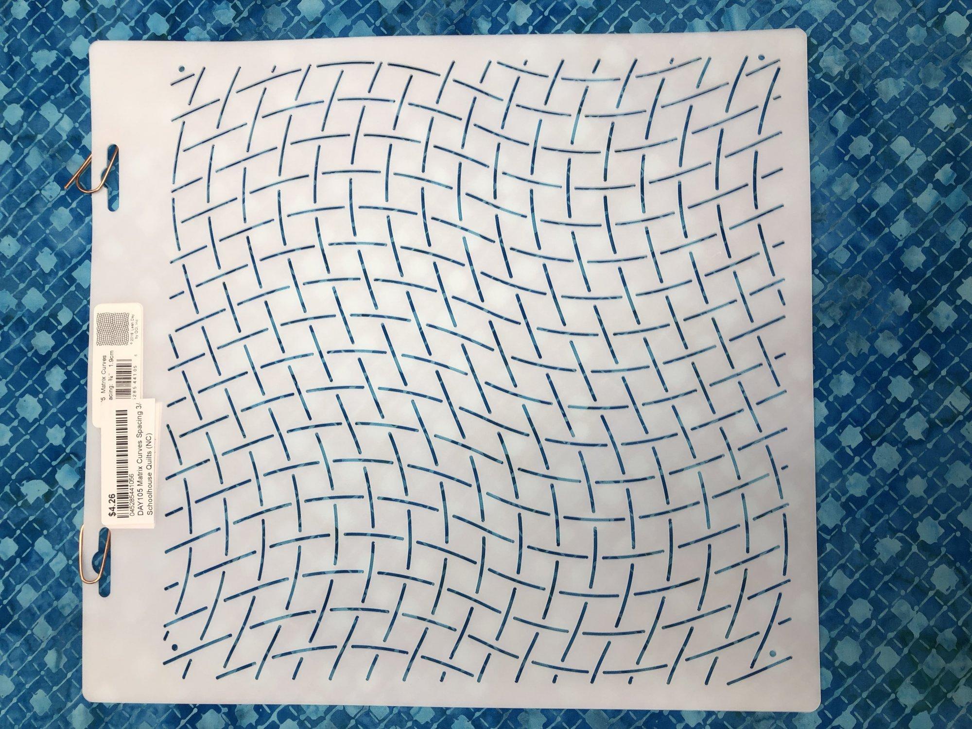 DAY105 Matrix Curves Spacing 3/4 Stencil